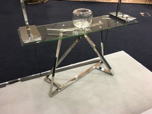Chelsom Constellation Clear Glass Console Table