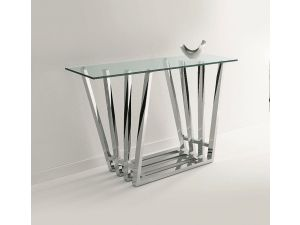 Chelsom Octet Rectangular Glass Console Table