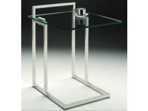 Chelsom Empire Square Glass Side Table