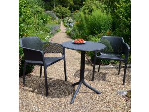 Europa Anthracite Step Standard Set With 2 Net Chairs