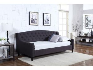 Sareer Daydream Grey Linen Fabric 3ft Single Day Bed