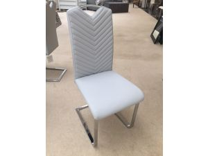 Fairmont Marco Leather Dining Chairs Light Grey