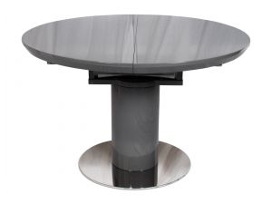Fairmont Romeo High Gloss Round Ext Dining Table Grey - 120-160cm