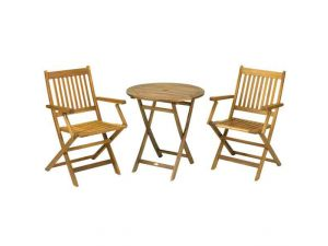 Royalcraft York 2 Seater Bistro Set With Manhattan Folding Armchairs