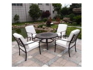 Royalcraft Versailles 5pc 4 Seater Firepit Set With Cushions