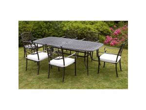 Royalcraft Versailles 7pc 6 Seater Rectangle Stacking Set With Cushions