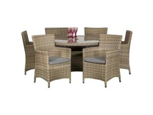 Royalcraft Wentworth Rattan 6 Seater Round Dining Set With Carver Chairs