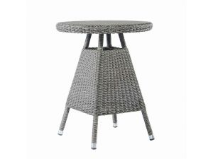 Alexander Rose Monte Carlo Tea Table With 0.6M Round Glass Top