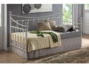 Florida 3ft Single Cream Metal Daybed