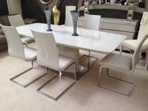 Floris Extending Dining Table + 6 Fabia Chairs Set