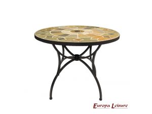 Europa Alicante Patio Stone Table With 4 San Luca Rattan Chairs