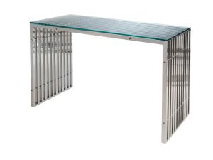 Greenapple Lychee Steele Glass Console Table