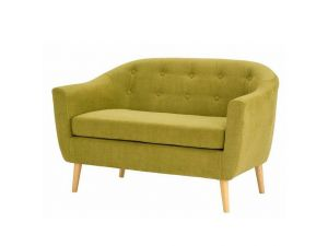 Fulham Olive Green Fabric 2 Seater Sofa
