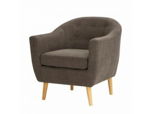 Fulham Graphite Fabric Armchair