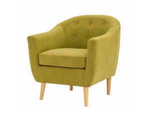Fulham Olive Green Fabric Armchair