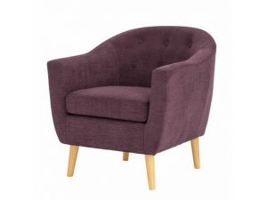 Fulham Plum Fabric Armchair