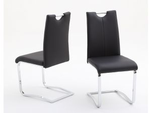 Fairmont Gabi Leather Dining Chairs Pair