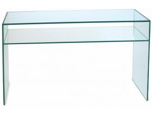 Greenapple Clear Glass Console Table