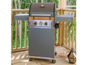 Leisuregrow Grillstream Matt Grey Steel Classic 2 Burner