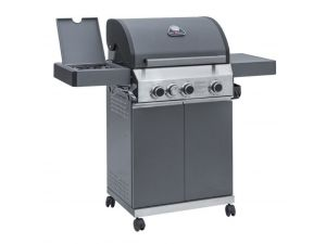 Leisuregrow Grillstream Matt Grey Steel Classic 3 Burner