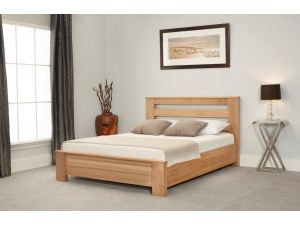 Emporia Heartwood Chunky 4ft6 Double Oak Bed