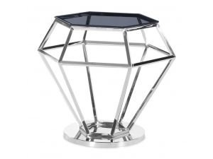 Fairmont Hector Smoked Glass Side Table