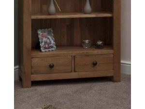 Rustic Oak Large Bookcase