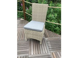 Royalcraft Wentworth Rattan Side Dining Chair with Cushion