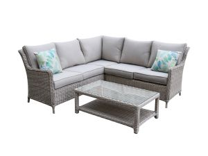 Royalcraft Seychelles 3pc Rattan Corner Lounging Set with Coffee Table