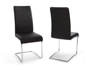 Fairmont Fabio Leather Dining Chairs Pair