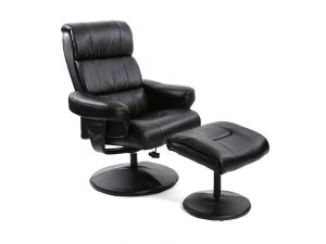 Fairmont Strasbourg Leather Swivel Recliner Chair With Footstool