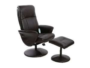 Fairmont Monaco Leather Massage Recliner Chair With Footstool