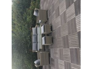 Royalcraft Wentworth 3 Seat Rattan Sofa Dining Set with Adj. Table