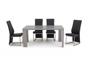 Fairmont Lucca Grey High Gloss Dining Table + 6 Remo Chairs