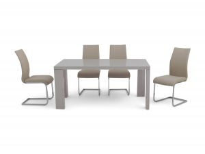 Fairmont Lucca Grey High Gloss Dining Table + 6 Paolo Chairs