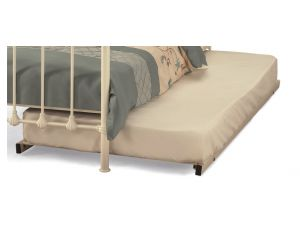 Serene 2ft6 Small Single Ivory Metal Guest Bed