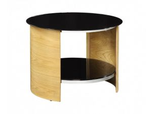 Jual JF303 Curved Oak Round Lamp Table