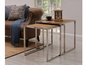 Malmo Walnut Effect Wooden Nest Tables