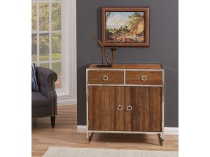 Malmo Walnut Effect Wooden 2 Doors 2 Drawers Chest