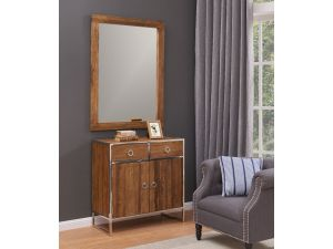 Malmo Wooden 2/2 Chest And Mirror Set