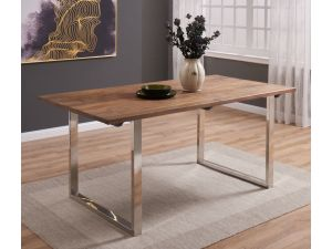 Malmo Walnut Effect Wooden Dining Table