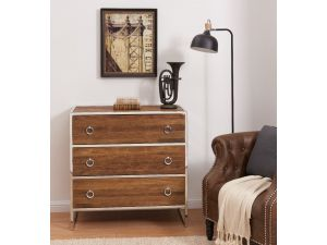 Malmo Walnut Effect Wooden 3 Drawer Chest
