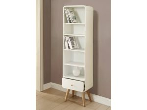 Jual PC703 Curved White Tall Bookcase