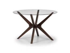 Julian Bowen Chelsea Round Glass 120Cm Table