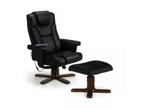 Julian Bowen Malmo Black Recline Massage Chair