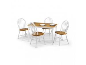 Julian Bowen Oslo Wooden Dining Table and 4 Oslo Dining Chairs