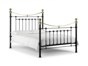 Julian Bowen Victoria 5ft King Size Satin Black Bed