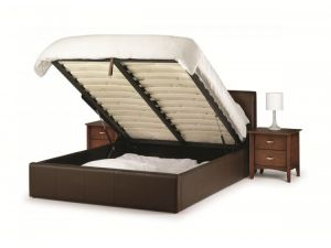 Julian Bowen Vienna 5ft Brown Leather Storage Bed - Clearance