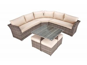 Kensington Curved Corner Rattan Sofa Set With Cube Table 2017 Range