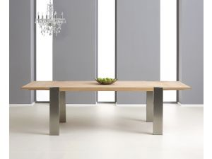 Knightsbridge 180cm Solid Oak Dining Table With 2 Extensions